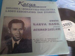 Album Krontjong rilisan Karya Record bersama Orkes Krontjong Karya Nada pimpinan Achmad Zaelani (Foto Denny Sakrie)